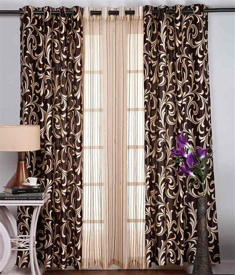 door curtains online india homefab india multicolour polyester door curtain set of 3