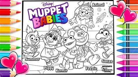 Muppet Babies Coloring Pages by Disney Muppet Babies Coloring Page Disney Muppet Babies