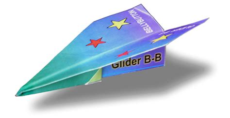 Folding Paper Aeroplanes - folding belly button glider