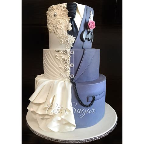 Wedding Cake Dress by Custom Wedding Cake Wedding Dress Inspired Wedding Cake