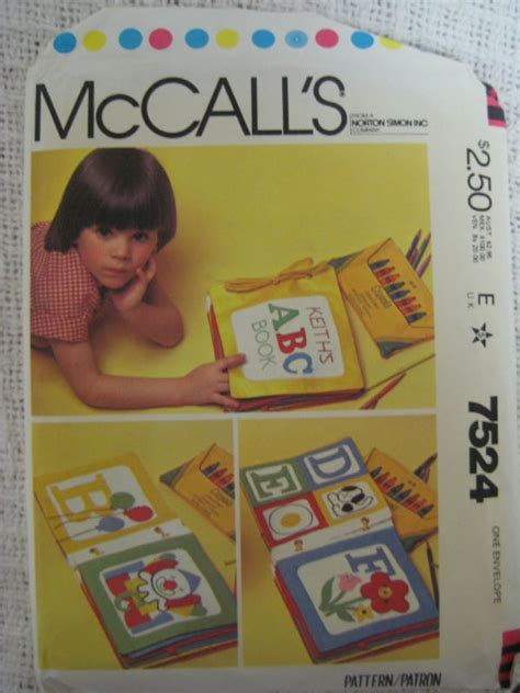 soft quiet book pattern vtg 7524 mccall kids soft quiet book sewing pattern new