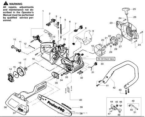 poulan pro chainsaw parts diagram poulan 262 gas saw 262 poulan pro pp262 gas saw parts