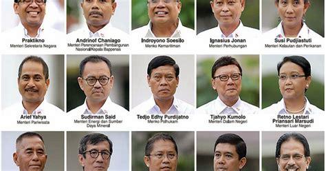 biodata jokowi terbaru profil biodata 34 mentri kabinet kerja jokowi jk