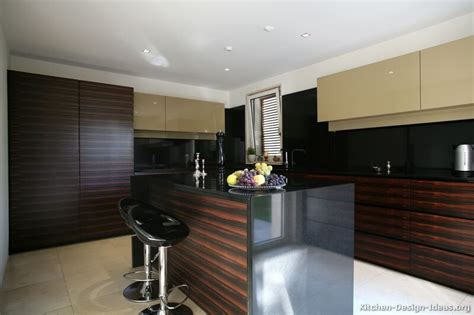 pictures  kitchens modern dark wood kitchens page