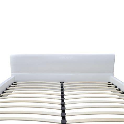 weisses bettgestell kunstlederbett bettgestell bett wei 223 180x200cm matratze