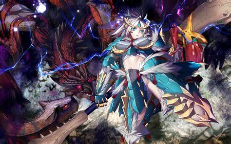 anime dragon girl wallpaper monster girl wallpaper wallpapersafari