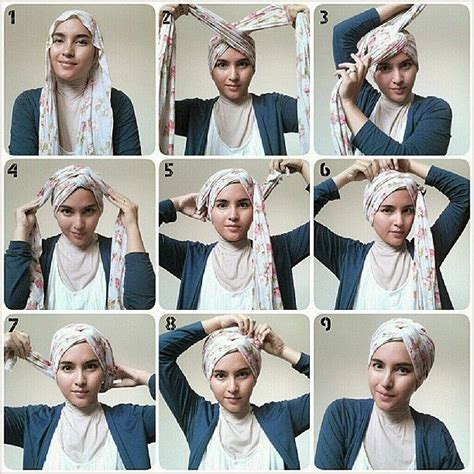 video tutorial hijab paris turban style tutorial jilbab simple turban tutorial hijab cara