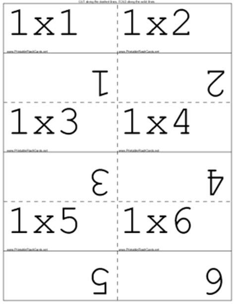 multiplication flash card template worksheets flashcards of multiplication opossumsoft