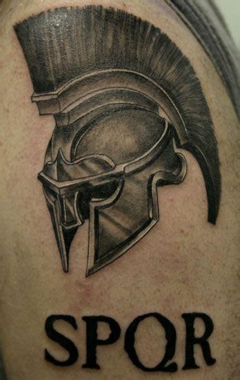 spqr tattoo designs 48 mind blowing helmet tattoos