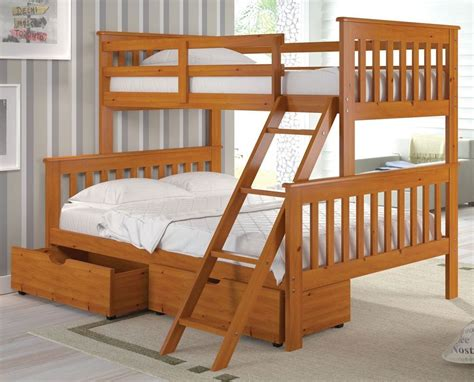 Twin Over Full Bunk Bed W Trundle Or Storage Drawer Bunk Bed W Trundle