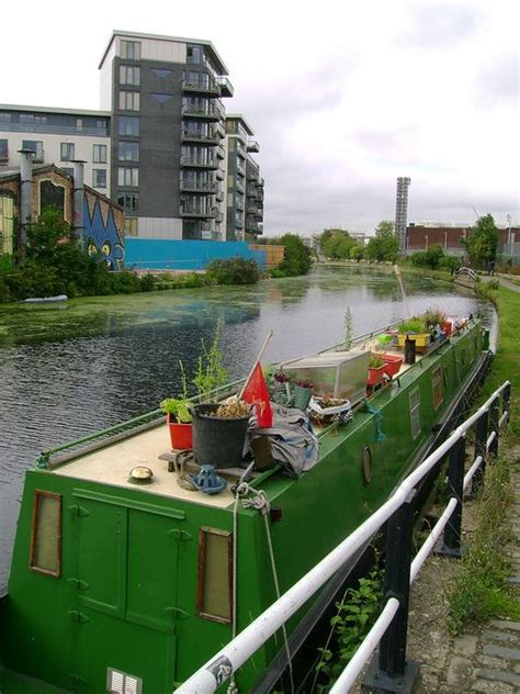 living on a narrow boat in london narrow boat garden by london permaculture via flickr