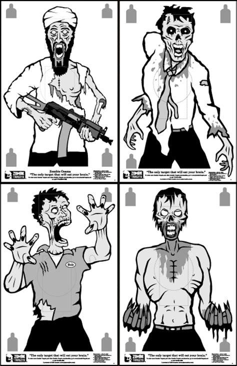 printable bad guy targets printable zombie targets pdf images
