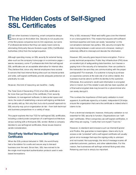 the hidden costs of self build the hidden costs of selfsigned ssl certificates