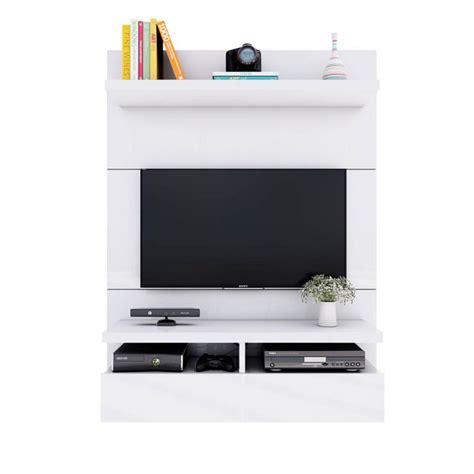 painel  tv  polegadas zeus branco gloss  cm
