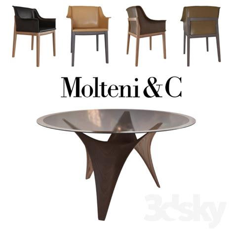 C Chair With Table by 3d Models Table Chair Arc Table Breva Chair Tivan