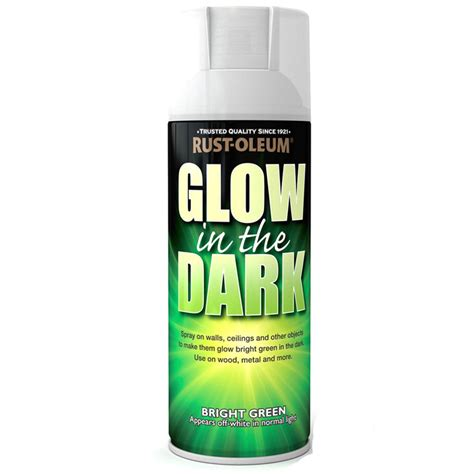 glow in the spray paint rust oleum glow in the bright green spray paint
