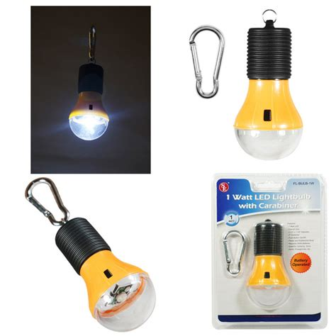 battery operated led light bulb 1 watt led battery operated light bulb with carabiner