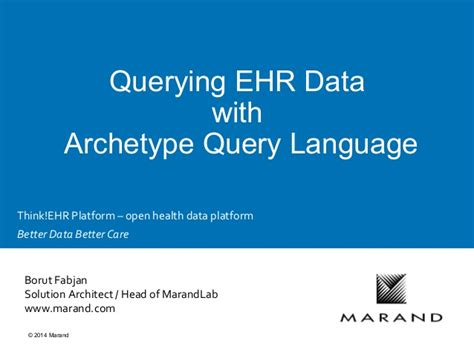 pattern query language querying ehr data with archetype query language