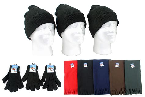wholesale winter beanie hats gloves and scarves sku
