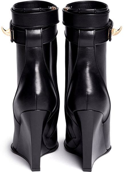 Kaos Givenchy Shark Black givenchy shark tooth midcalf wedge boots in black lyst