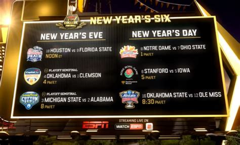 new year s day football espn presents the new year s six espn mediazone