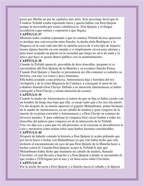 resumen del libro don quijote dela mancha por capitulos pdf resumen de don quijote