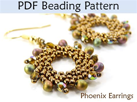 beading pdf earrings beading tutorial st petersburg sitch simple