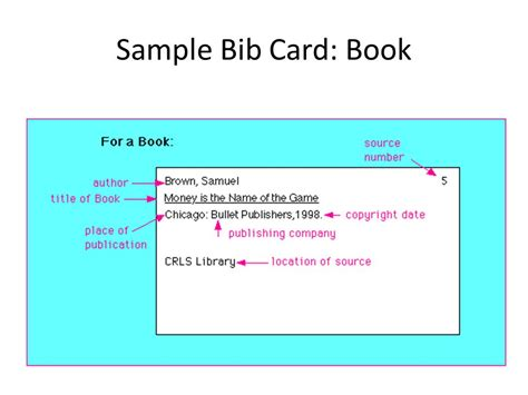 bibliography note card template bibliography format research paper sle pages of a