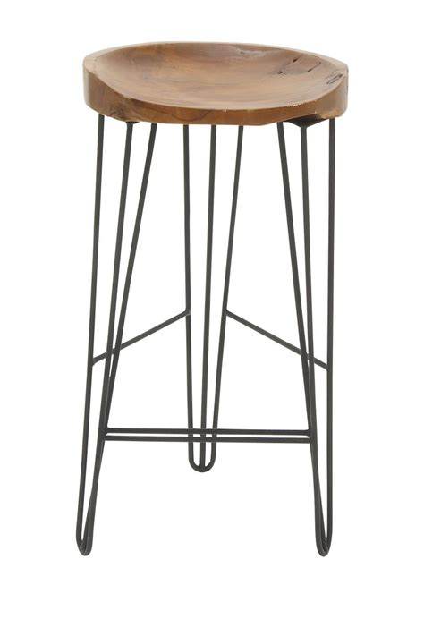 teak wood bar stools uma metal teak wood bar stool nordstrom rack