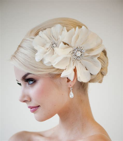 Wedding Hair With Fascinator by Bridal Bridal Fascinator Wedding Hair Accessory