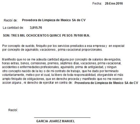 carta de finiquito nomina otros reportes carta de finiquito sait