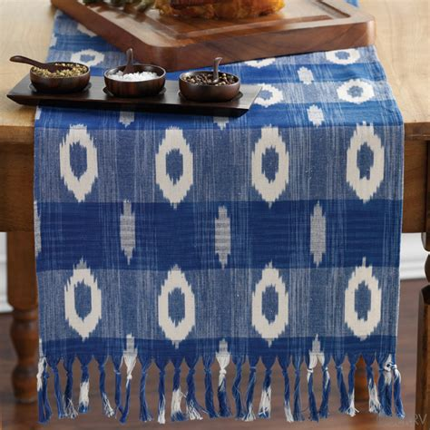 Blue And White Table Runner by Just Arrived Blue And White Ikat Table Runner
