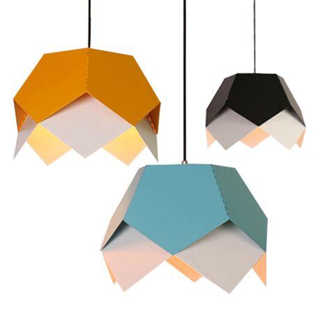 Origami Iron - new nordic creative geometric origami iron led e27 pendant