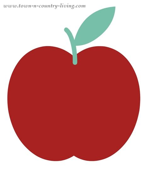 Printable Apple Template   ClipArt Best