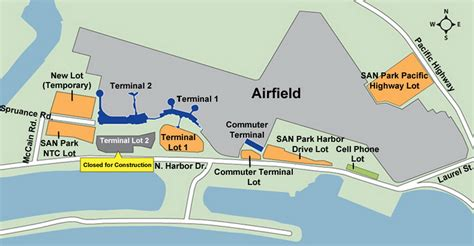 san diego airport map airport parking map san diego airport parking map jpg