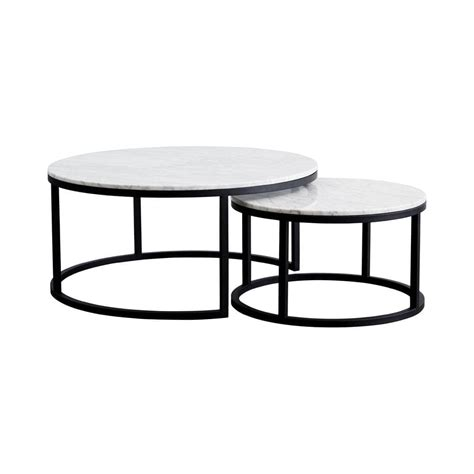 marble and metal coffee table modern designer nesting marble coffee tables black