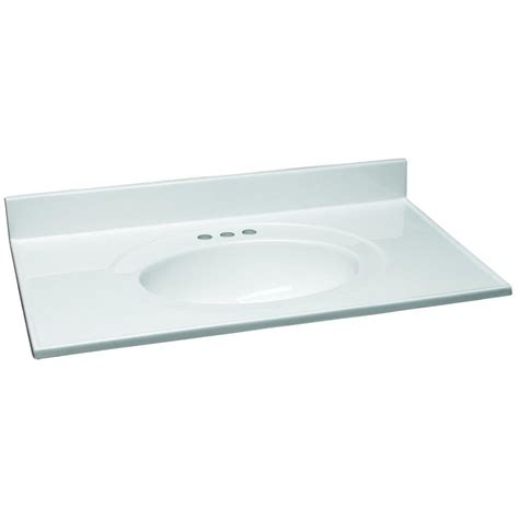 home depot design vanity top design house 37 in w cultured marble vanity top in white