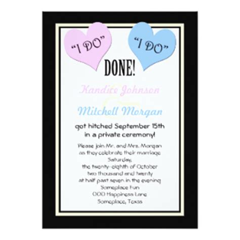 wedding reception invitation after marriage after wedding invitations announcements zazzle