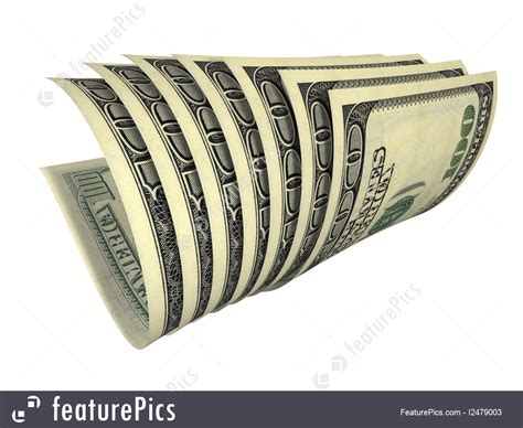 composition of dollar bill illustration of dynamic composition of several dollars