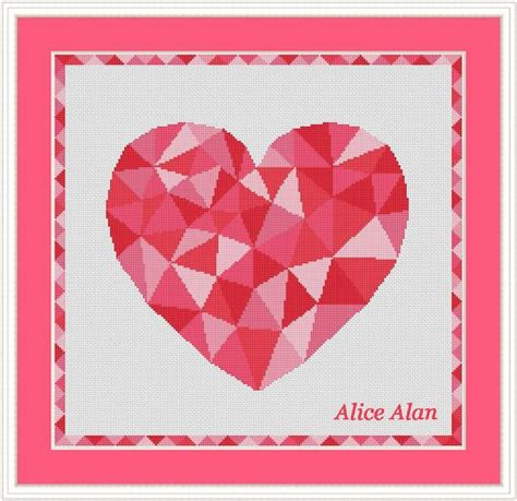 file name pattern c 54 best cross stitch pattern hearts images on pinterest