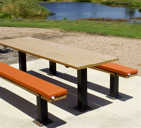picnic table bench cushions ptc outdoors llc picnic table cushions and custom bench cushions