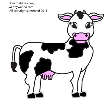 how to a cow how to draw cows