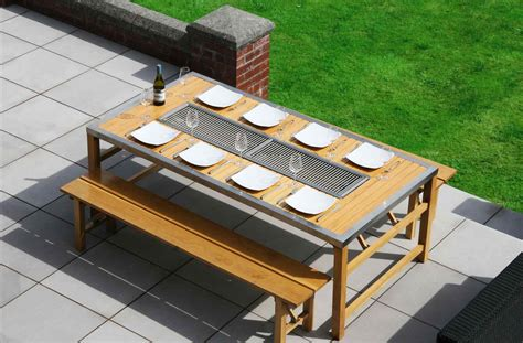 table with built in grill outdoor rhpinterestcom u table with built in grill seat