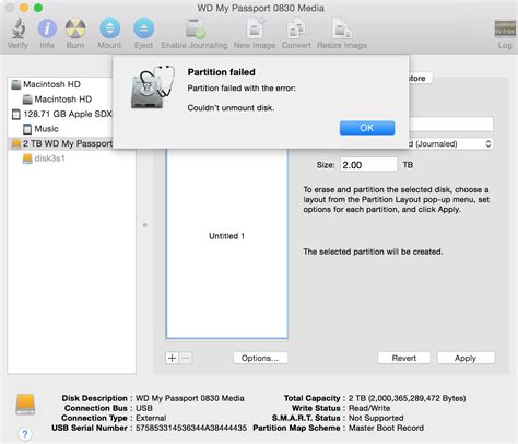 format external hard drive mac failed wd my passport ultra 2tb on mac yosemite 10 10 2