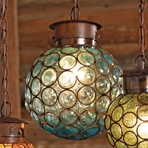 Glass Sphere Pendant Light Southwest Glass Sphere Pendant Light Large
