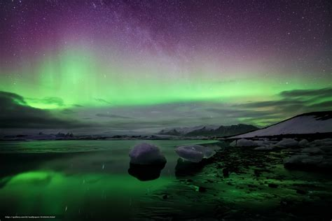 Northern Lights Landscaping Wallpaper Northern Lights Iceland Landscape Free Desktop Wallpaper In The Resolution