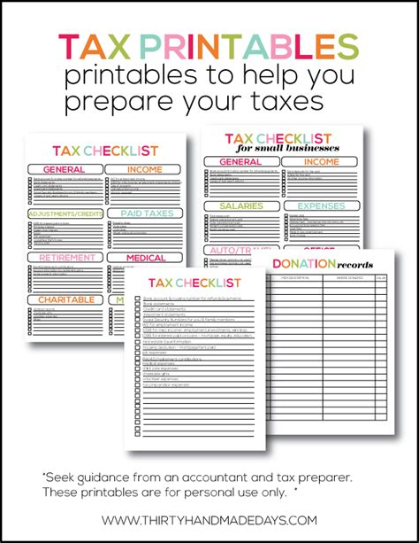 printable tax organizer 2014 printable tax information for your budget binder