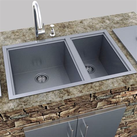 Sink Cover sunstone dual mount 34 inch basin sink with covers b sk34 bbq guys