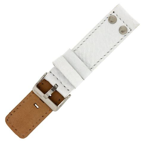 Gunny Calf Leather 28mm 1 oozoo band white leather with studs
