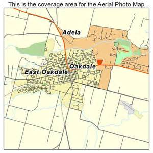 aerial photography map of oakdale ca california